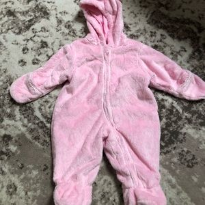 NWT Carter's pink fleece winter snow suit outfit